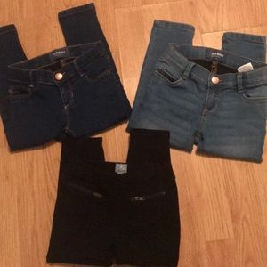 Lot of 3 old navy/gap 3t jeans/leggings